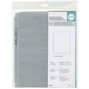 "We R Memory Keepers Full Page We R Ring Photo Sleeves 8.5"" x 11"", Pack of 10 (WR660157)"