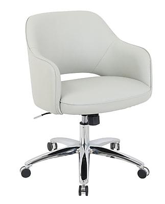kathy ireland® Renwick Faux Leather Office Chair, Fog Gray (10143-2)