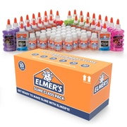 Elmer's Slime Class Pack, Slime Activator, Non Toxic,Clear and Glitter, 60/Pack (2062244)
