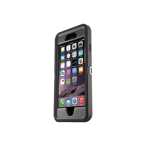sports shoes 7afd0 8cffb OtterBox Defender Rugged Case for iPhone 6/6S, Black (77-54912)