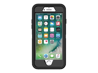 OtterBox Defender Rugged Case for iPhone 7/8, Black (77-56603)