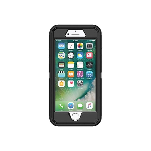 brand new 010b8 b13c0 OtterBox Defender Series Black Rugged Case for iPhone 5 & Newer (UX1029)