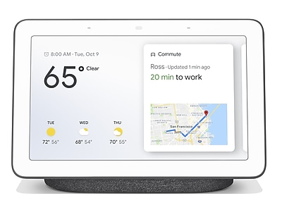 Google Home Hub, Smart Home Controller, Charcoal (2018) (GA00515-US)