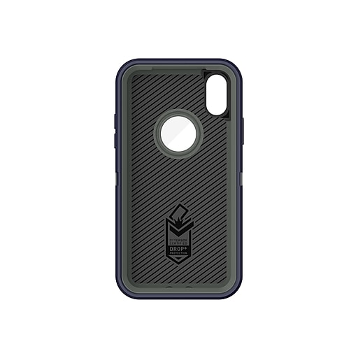 buy online 50194 0da99 OtterBox Defender Black Rugged Case for Apple iPhone X/Xs (77-57026)
