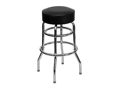 "Flash Furniture 30.25""H Black and Chrome Bar Stool (XU-D-100-GG)"