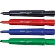 Staples DuraMark Permanent Marker, Chisel Point, Assorted, 8/Pack (29202)
