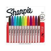 Sharpie Permanent Marker, Fine Point, Assorted, Dozen (30075PP)