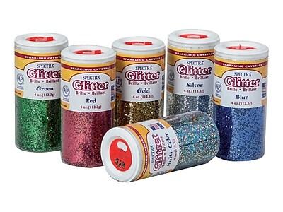 Spectra Glitter, Assorted, 6/Pack (91370)