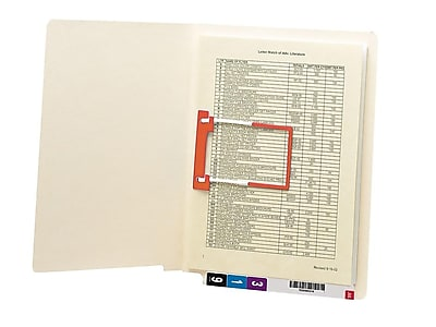 Smead End Tab Fastener Folder, Reinforced Straight-Cut Tab, 1 Fastener, Letter Size, Manila, 50 per Box (34112)