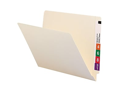 Smead End Tab 100% Recycled File Folder, Shelf-Master Reinforced Straight-Cut Tab, Letter Size, Manila, 100/Box (24160)