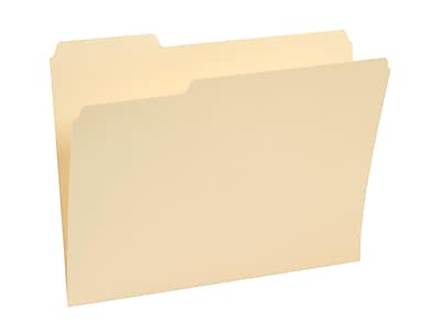 Staples® Manila File Folders, Letter, 3 Tab, Assorted Position, 500/Box