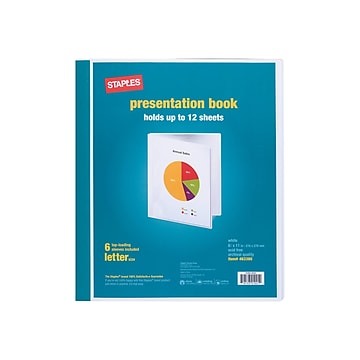 Staples Letter Clear Cover Presentation Book, White, Each (21626/21622)