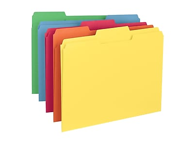 Smead File Folders, 3-Tab, Letter Size, Assorted, 100/Box (11943)