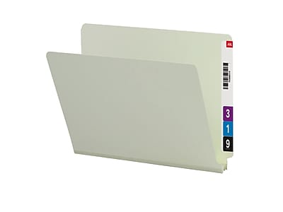 Smead End Tab Pressboard File Folder, Straight-Cut Tab, 2