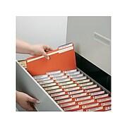 Smead® File Folder, 1/3-Cut Tab, Letter Size, Orange, 100/Box (12543)