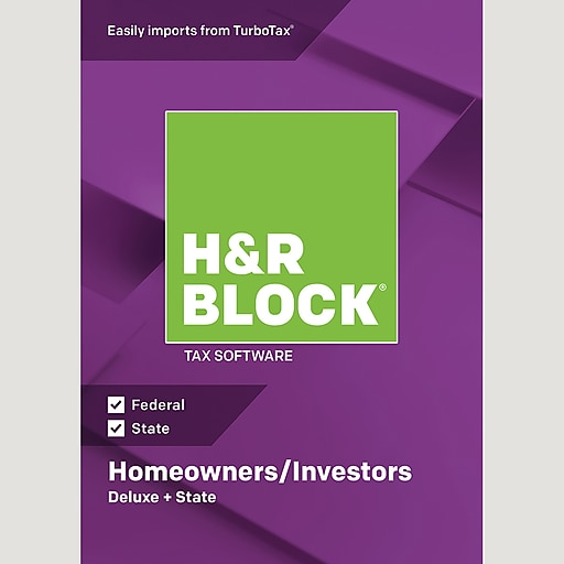 HR Block 18 Deluxe State For 1 User Windows Download