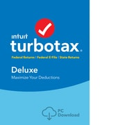 TurboTax Deluxe Fed + Efile + State 2018 for 1 User, Windows, Download (0606061)