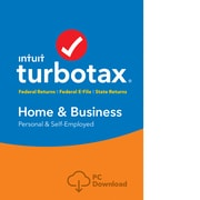 TurboTax Home & Bus Fed+Efile+State 2018 for 1 User, Windows, Download (0606087)
