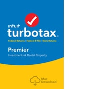 TurboTax Premier Fed + Efile + State 2018 for 1 User, Mac, Download (0606099)