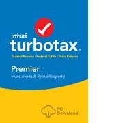 TurboTax Premier Fed + Efile + State 2018 for 1 User, Windows, Download (0606101)