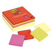 """Post-it® Super Sticky Notes, 3"""" x 3"""", Marrakesh Collection, 24 Pads/Pack (65424SSCYN)"""