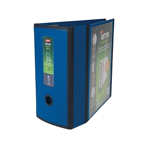 Staples Better 5-inch 3 Ring View Binder, Blue