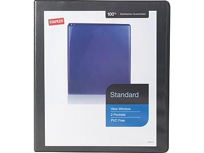 "Staples Standard 1"" 3-Ring View Binder, Black (26431-CC)"