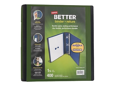 "Staples 1.5"" 3-Ring Better Binder, Olive (22165-US)"
