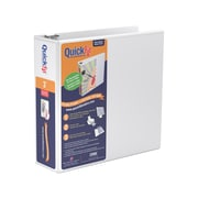 "QuickFit 3"" 3-Ring View Binder, White (87050)"
