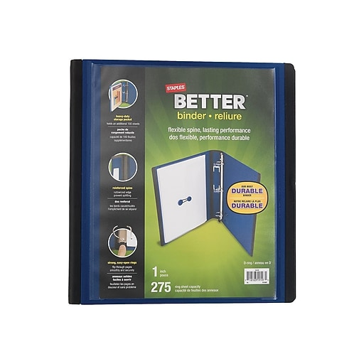 """Shop Staples For 1"""" Staples® Better® View Binder With D"""