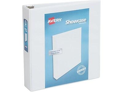 """Avery Economy 2"""" 3-Ring View Binder, White (19701)"""