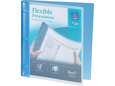"Avery 1/2"" 3-Ring Flexible Poly Binder, Blue (17670)"