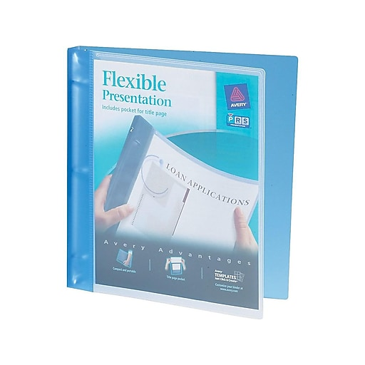 avery flexible 5 inch round 3 ring view binder blue 17670 staples