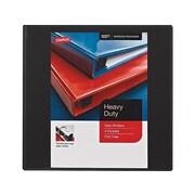 "Staples Heavy-Duty 3"" 3-Ring View Binders, Black, 4/Carton (24690CT)"
