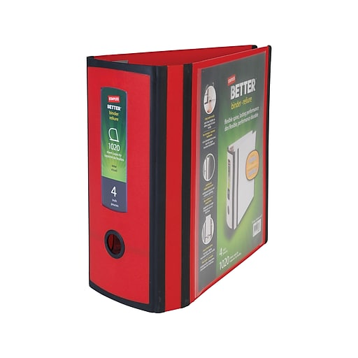 Shop Staples For Staples Better 4-inch 3 Ring View Binder, Red