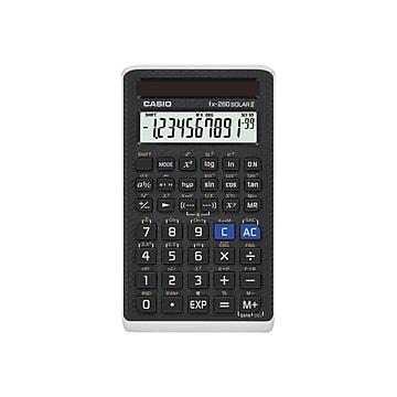 Casio FX-260 Solar II 10-Digit Scientific Calculator, Black,Size: large