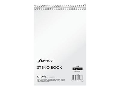 Gregg Ruled 6 x 9 Staples White Paper Steno Pads 12//Pack