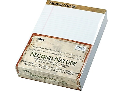 TOPS Second Nature Notepads, 8.5
