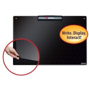 """Justick™ by Smead® 24""""W x 16""""H Frameless Mini Dry-Erase Board with Electro Surface Technology and Clear Overlay, Black (02548)"""