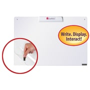 """Justick™ by Smead® 24""""W x 16""""H Frameless Mini Dry-Erase Board with Electro Surface Technology and Clear Overlay, White (02549)"""