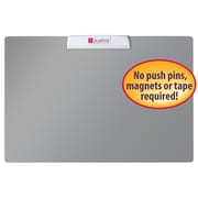 "Justick™ by Smead® Frameless Mini Bulletin Board with Electro Surface Technology, 24""W x 16""H, Silver (02555)"