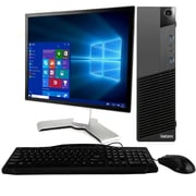 "Lenovo M83 Desktop Computer, Intel Pentium 3.2GHz 4GB RAM 240GB SSD, Win 10 Pro, 20"" Monitor, WiFi, Refurbished"