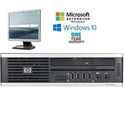 """HP Elite 8000 Ultra Small Form Factor, Intel core 2 Duo E6550 2.33GHz Processor bundled with a 17"""" LCD monitor, Refurbished"""