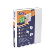 "QuickFit 1"" 3-Ring View Binder, White (88010)"