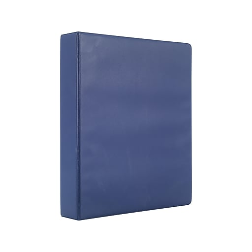simply 1 5 inch round 3 ring non view binder navy 26580 staples