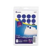"""Avery Laser/Inkjet Color Coding Labels, 3/4"""" Dia., Dark Blue, 24/Sheet, 42 Sheets/Pack (5469)"""