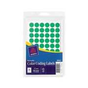 "Avery Hand Written Color Coding Labels, 1/2"" Dia., Neon Green, 60/Sheet, 14 Sheets/Pack (5052)"