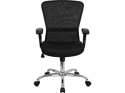Flash Furniture Mesh/Fire-retardant Foam Task Chair, Black (GO-5307B-GG)