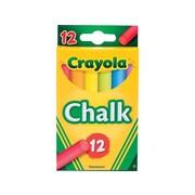 Crayola Drawing Chalk, Assorted, 12/Box (51-0816)