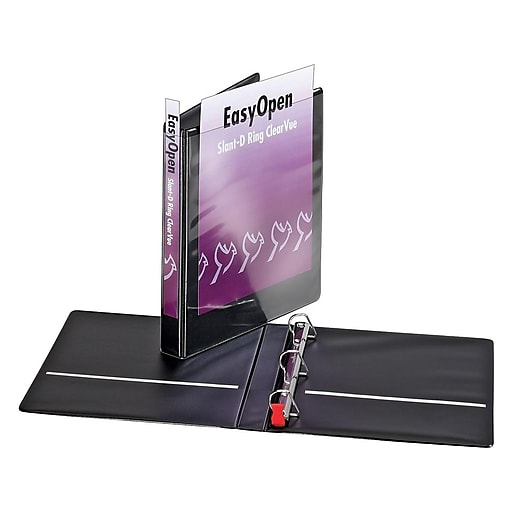 "Cardinal 1"" Easy Open ClearVue Binders With Locking D"